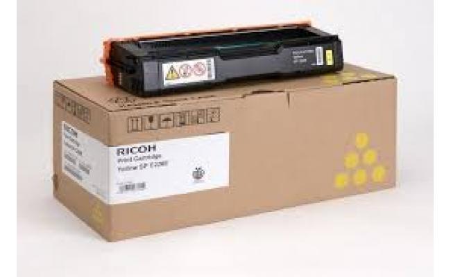 Ricoh 407643, Toner Cartridge YELLOW, SP C220, SP C221, SP C222, SP C240- Original