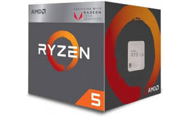 AMD 5 3400G 4-core, 8-Thread with Radon REX Graphics /Socket AM4/4.2 Hz max Boost/3.7 Hz BASE
