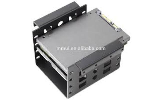 "Bracket 2.5"" to 3.5"" SSD HDD Hard Disk Drive Bays Holder Metal Mounting Bracket Adapter for PC (Bracket)"