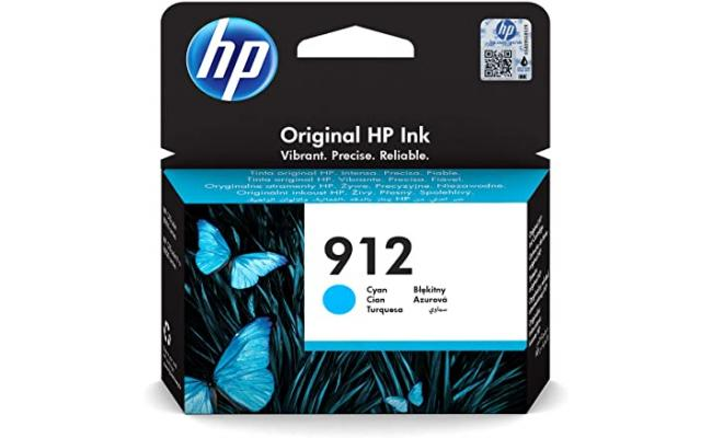 HP 912 Cyan Original Ink Cartridge (3YL77AE)