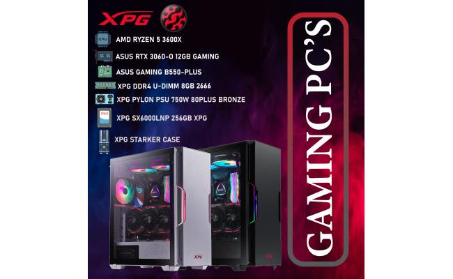 XPG DESKTOP,CPU AMD Ryzen 5 3600X,DDR4 /8GB ,SSD 256GB M.2 ,XPG PYLON PSU 750W  80PLUS BRONZE ,XPG STARKER  CASE