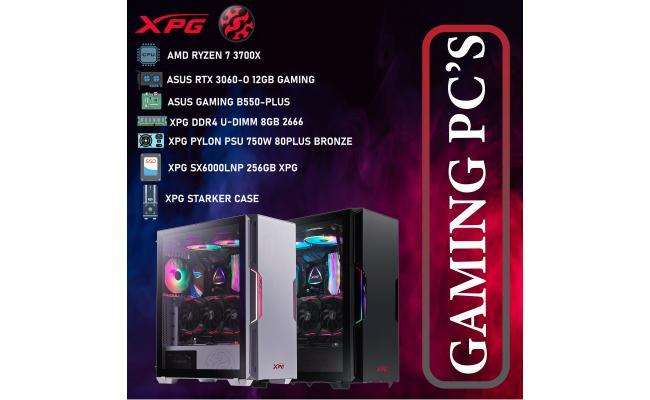 XPG DESKTOP,CPU AMD Ryzen 7 3700X,DDR4 /8GB ,SSD 256GB M.2 ,XPG PYLON PSU 750W  80PLUS BRONZE ,XPG STARKER  CASE