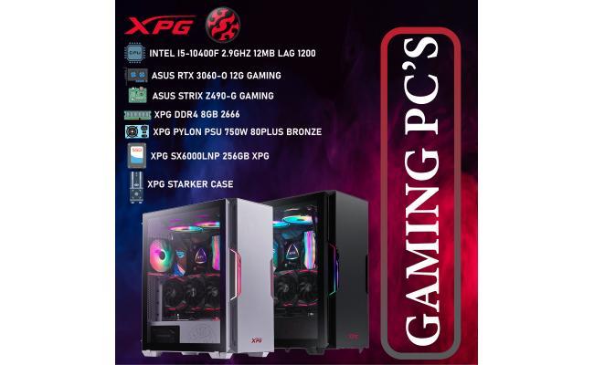 XPG DESKTOP,CPU INTEL I5-10400F, DDR4 /8GB, SSD 256GB M.2, XPG PYLON PSU 750W  80PLUS BRONZE, XPG STARKER  CASE