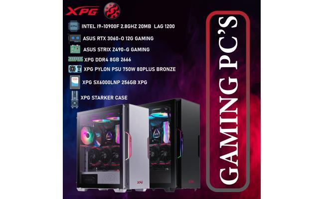 XPG DESKTOP,CPU INTEL I9-10900F,DDR4 /8GB ,SSD 256GB M.2 ,XPG PYLON PSU 750W  80PLUS BRONZE ,XPG STARKER  CASE