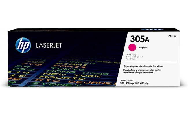 HP CE413A 305A Laser Toner Cartridge Magenta (Original)