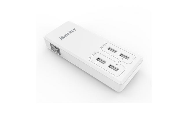 Hunttkey 4X USB Charger 5V /4.8A 1.5m